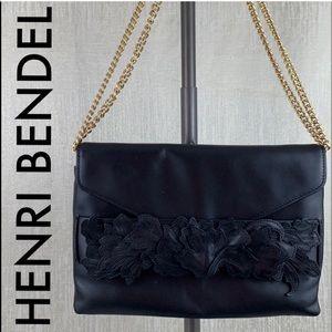 👑 HENRI BENDEL LEATHER SHOULDER/ CROSSBODY 💯AUTH